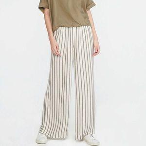 LOFT Lou & Grey Shadow Stripe Wide Leg Pant - L